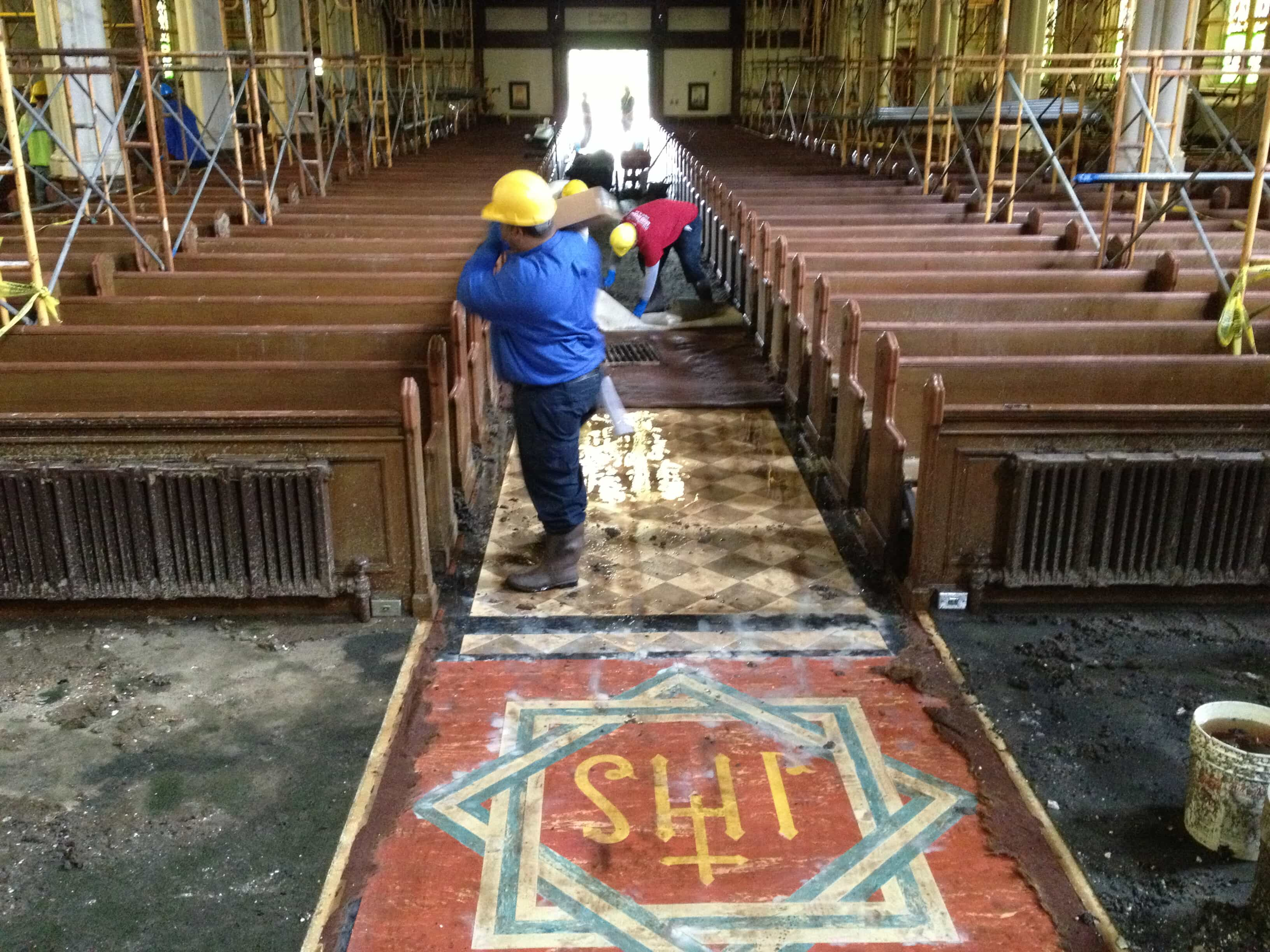 Construction in a church